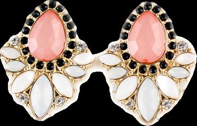 ROMWE Flower Shaped Pendant Earrings