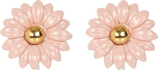 Light pink daisy stud earrings