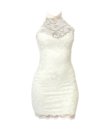 Halterneck Lace Dress