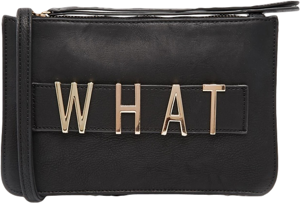 Pieces 'WHAT' Cross Body bag