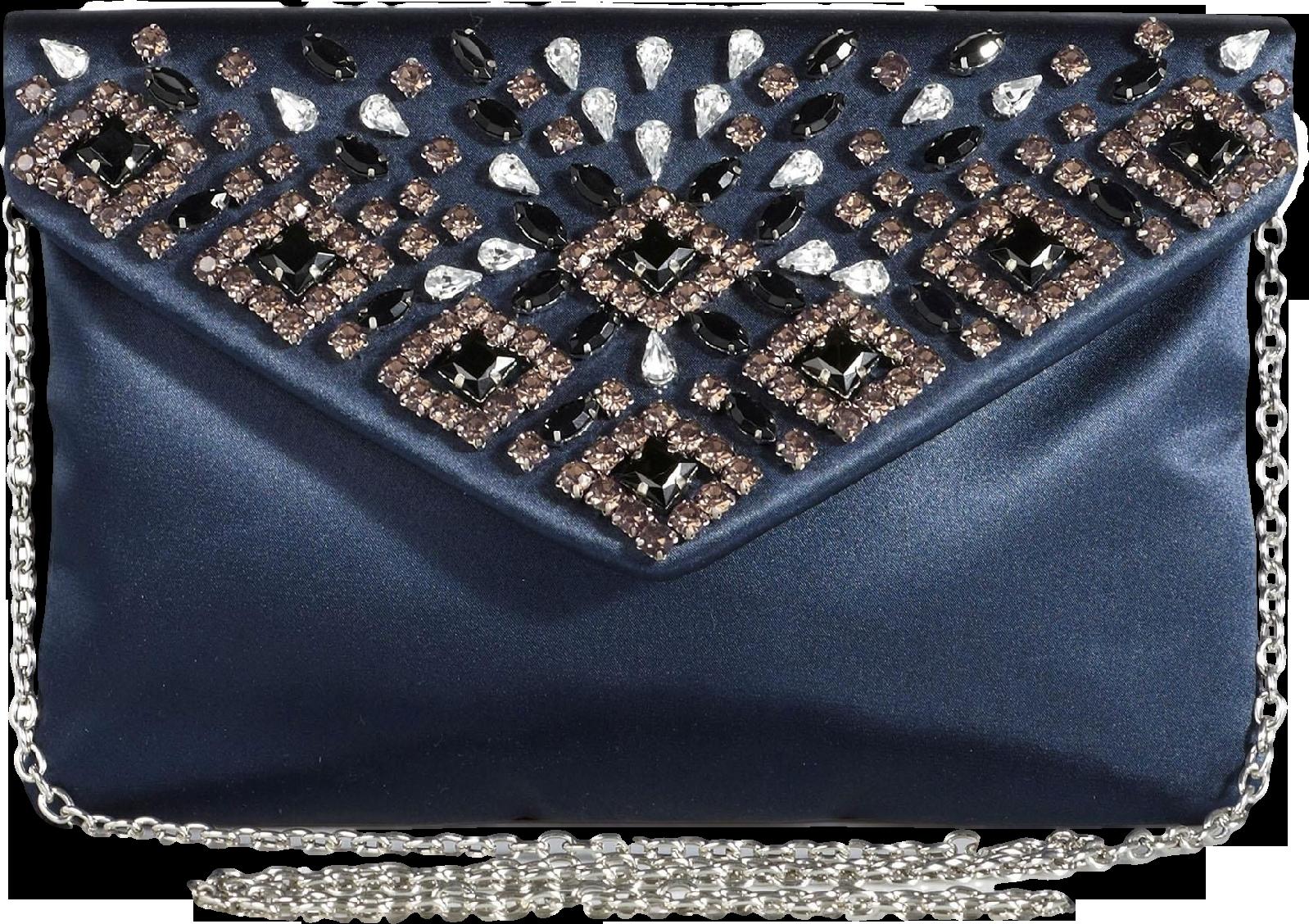 Jewel Envelope Clutch Bag