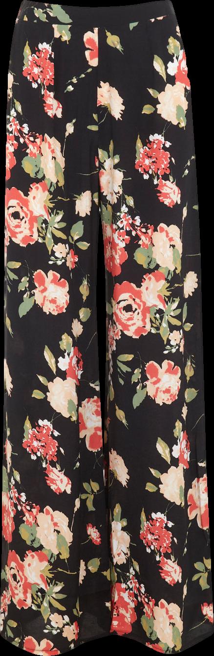 Floral Wide Leg Trouser