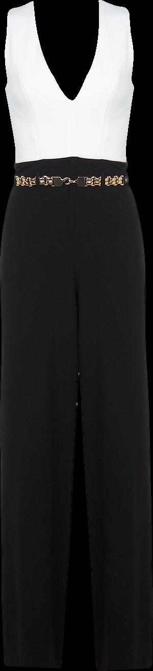 Monochrome Belted Jumpsuit