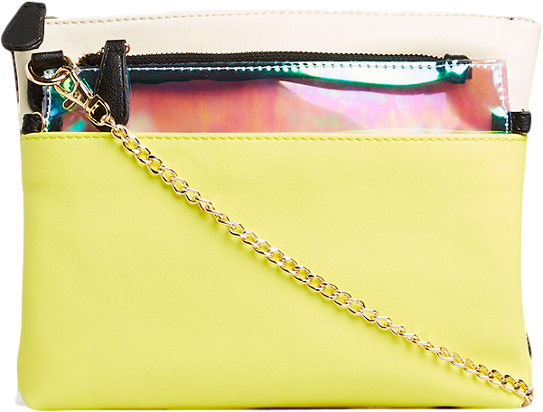Two-in-One Color Blocked Clutch