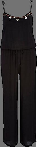 Black embellished cut out wide leg jumpsuit