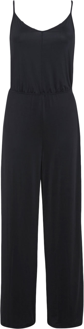 Black Slinky Wide Leg Jumpsuit