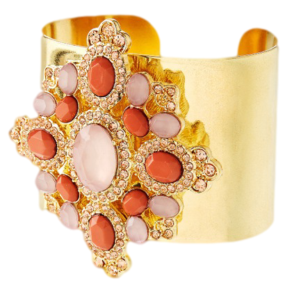 LIMITED EDITION CORAL FLOWER DETAIL CUFF