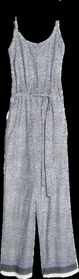 Printed long jumpsuit