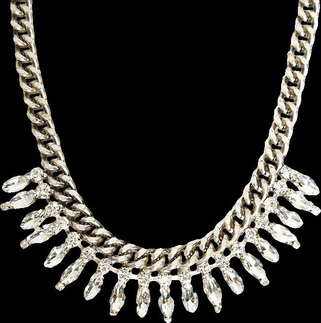 DAILYLOOK Elegant Crystal Chain Necklace