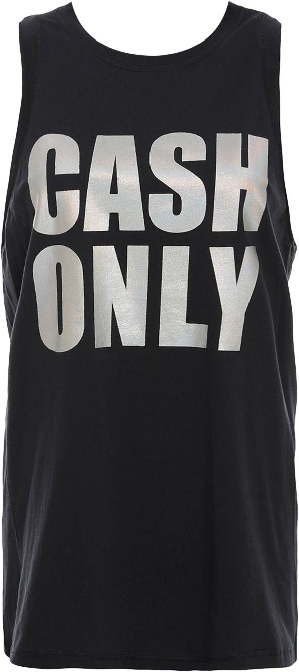 Tank top Cash Only in black