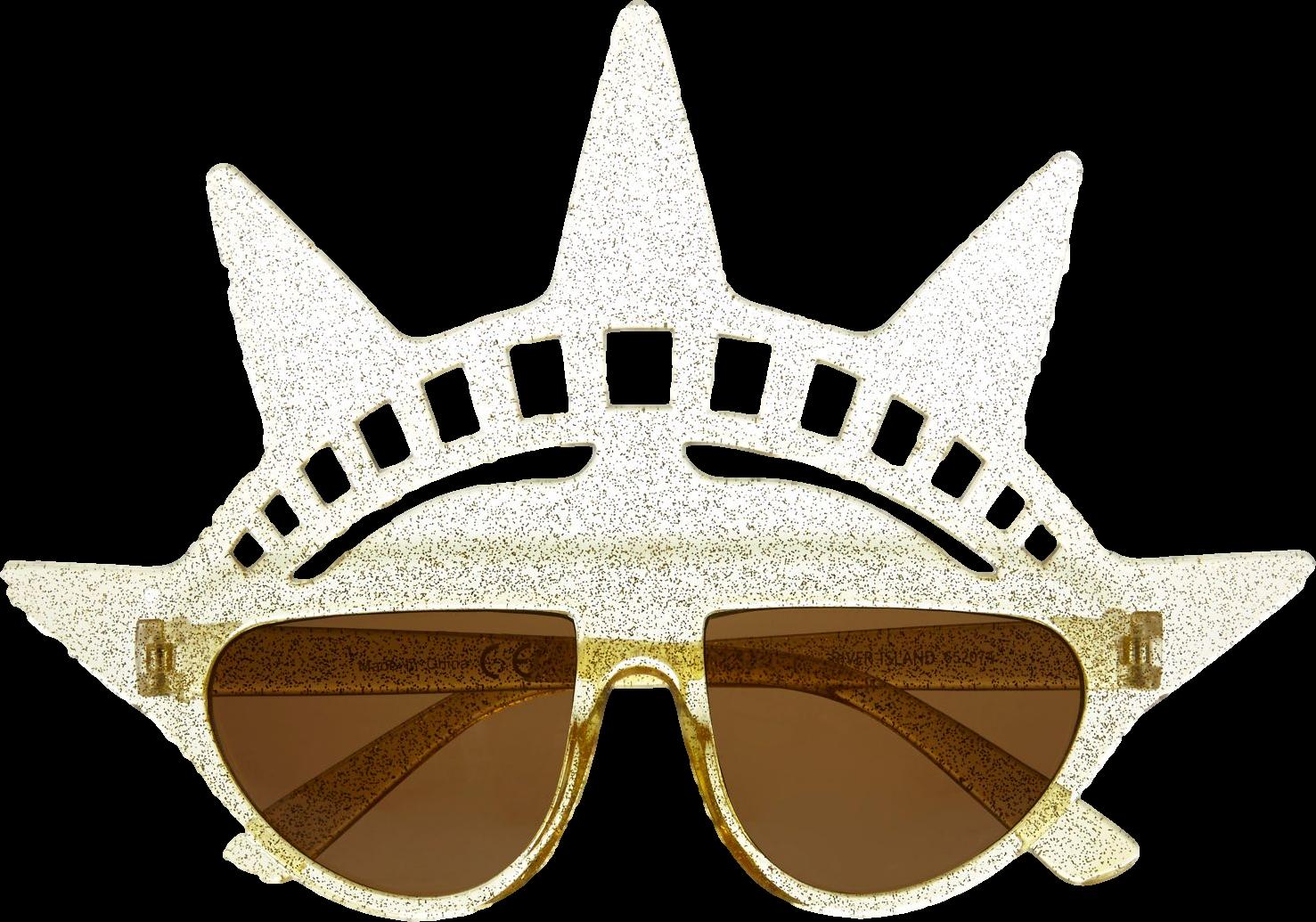 Gold Statue of Liberty sunglasses