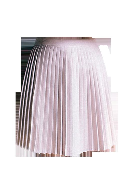 High Waist Skirt With Pleating