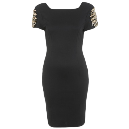 SPIKE SHOULDER BODY CON DRESS