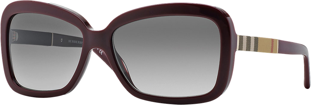 Burberry London Rectangle Sunglasses, Wine