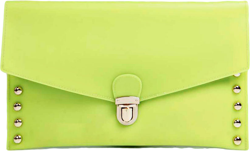 Arianna Jelly Stud Trim Envelope Clutch