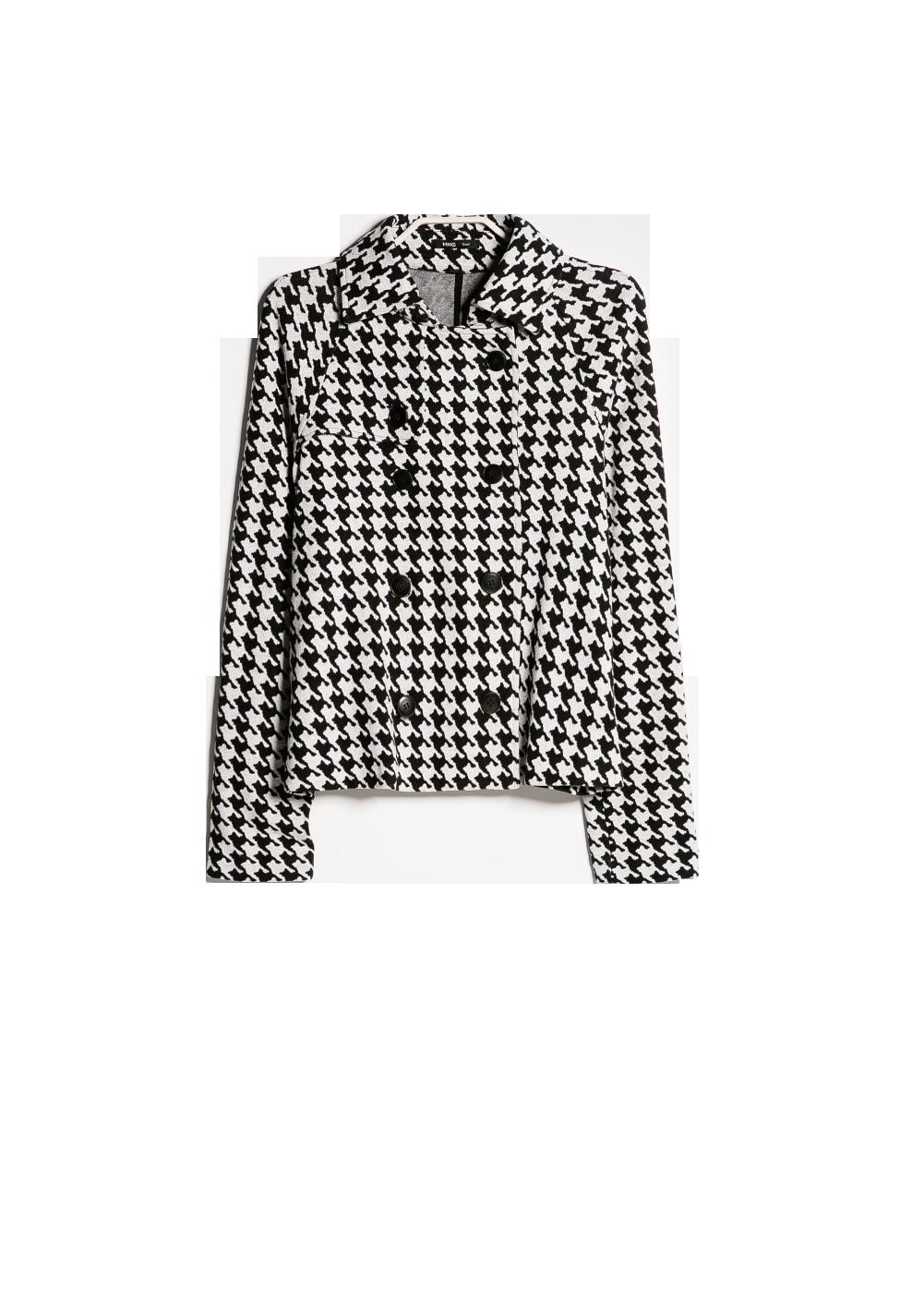 Houndstooth cotton-blend jacket