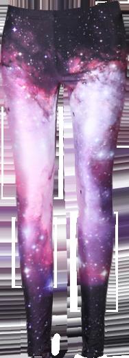 ROMWE Galaxy Print Purple Leggings