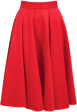 Closet Red Midi Scuba Skirt
