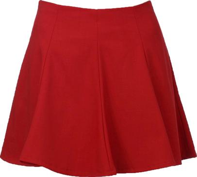 Retro Ruffle Red Skirt