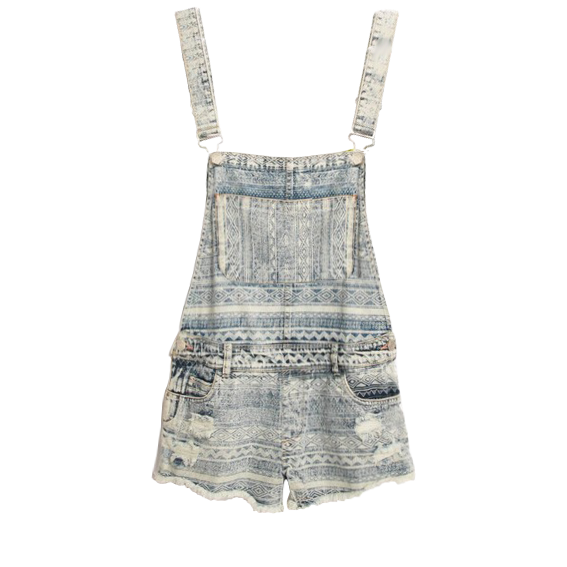 Mid-rise Waist Flipped Denim Shorts