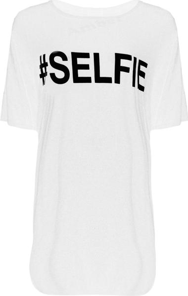 FDAvenue #Selfie Print T Shirt In White