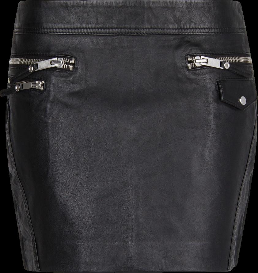 Leather biker miniskirt