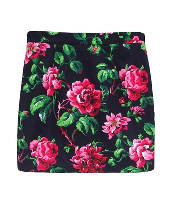 Rose Print Skirt