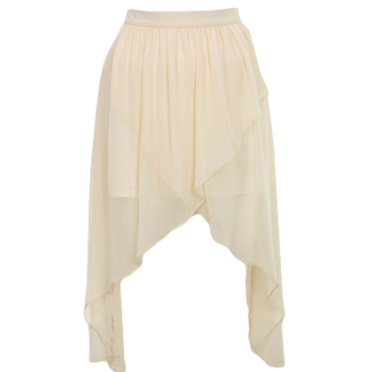 PETITES CREAM WRAP DROP SKIRT