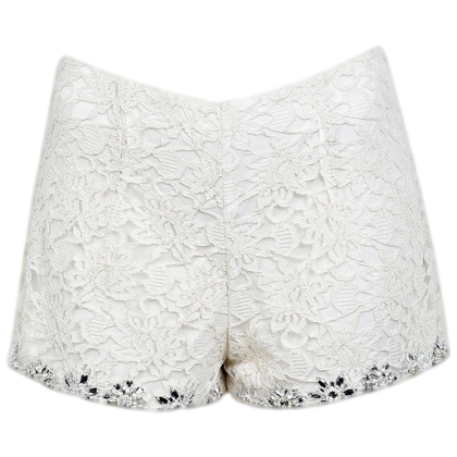 EMBELLISHED LACE SHORTS