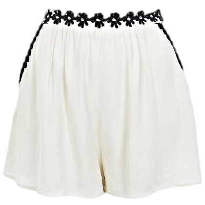 CREAM DAISY TRIM SHORT